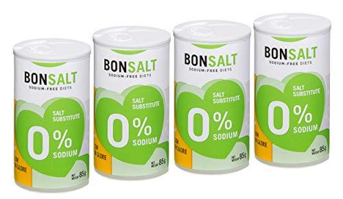 Bonsalt Salzalternative 0% Natrium (Neues Format) – 4 Packungen x 85 g - Insgesamt: 340 g