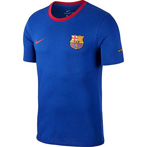 NIKE FC Barcelona Football T-Shirt Camiseta, Hombre, Azul (Deep Royal Blue) /...