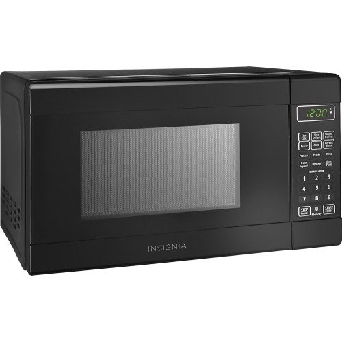 Insignia - 0.7 Cu. Ft. Compact Microwave (NS-7CM6-BK) Black - New