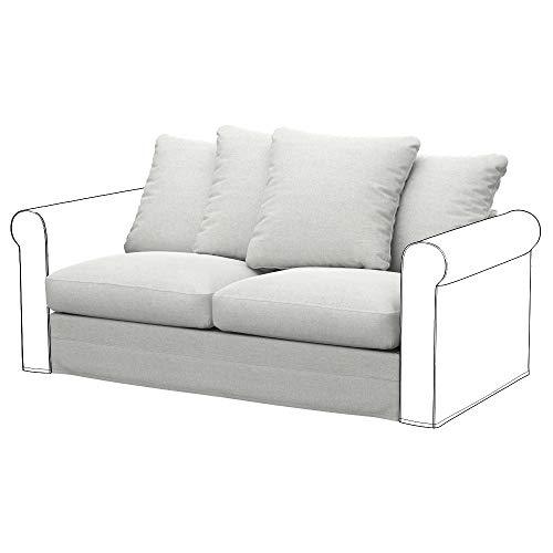 Soferia Funda de Repuesto para IKEA GRONLID módulos sofá Cama de 2 plazas, Tela Classic Creme, Off-White