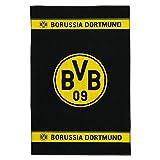 Borussia Dortmund BVB - Telo da bagno con emblema del Borussia Dortmund, 100 x 150 cm, taglia unica