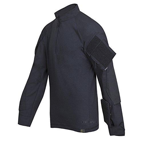 Tru-Spec Chemise de Combat Tru Xtreme en Nylon et Coton indéchirable pour Homme, Noir, Taille S