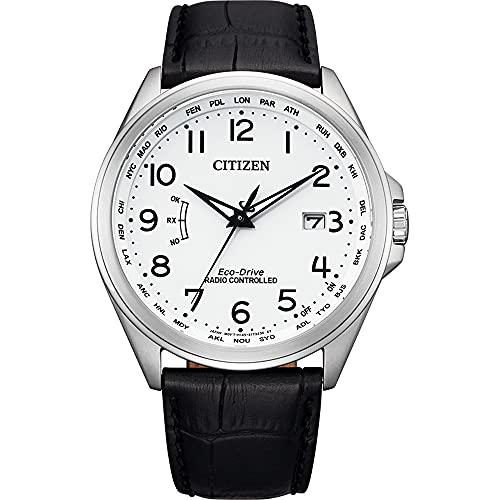 Citizen Reloj solar controlado por radio para hombre, elegante Eco-Drive, cristal de zafiro, CB0250-17A