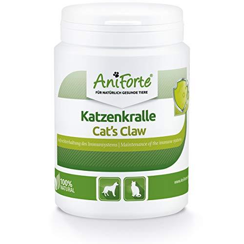AniForte Katzenkralle Pulver für Hunde, Katzen & Pferde - Natürliche Stärkung Immunsystem & als Gelenkpulver. Gemahlene Wurzelrinde für Stoffwechsel, Abwehrkräfte & Energie (100 g)