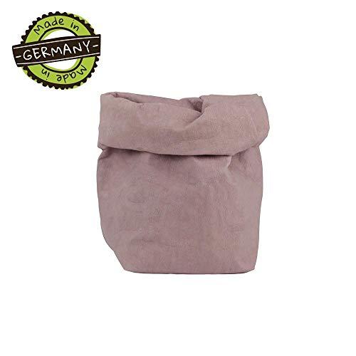 papyrMAXX oprolbox Stuff maat M duurzaame veelzijdige-mand van wasbaar papier 0,55cm sterk I Opslagmand voor bad - en kinderkamer etc. I cadeaubuidel planten planter bes