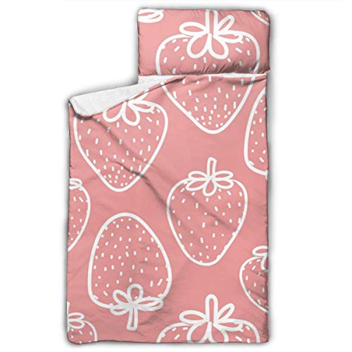 qingdaodeyangguo Kids Child Nap Mat for Daycare and Preschool 50X20 in Strawberry Gift Wrap Design