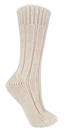 sock snob - Damen Winter Warm Uni Natur Reine Wolle 100prozent Wollsocken (37-40 eu, S198 Cream)