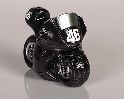 Topshop24you Wunderschöne Spardose,Sparbüchse Motorrad Rennmaschine, Schwarz mit Pfropfen