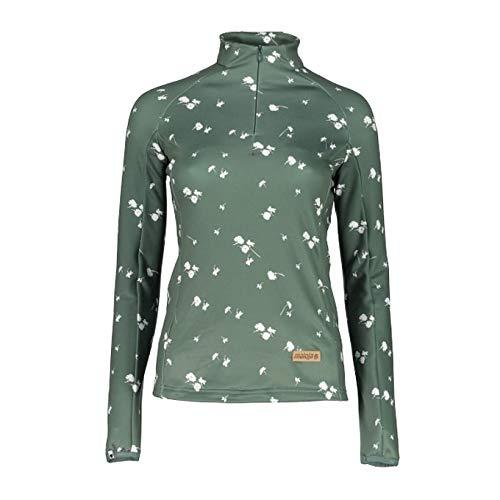 Maloja miamim Multisport Shirt, Damen M grün (Dark Mint)