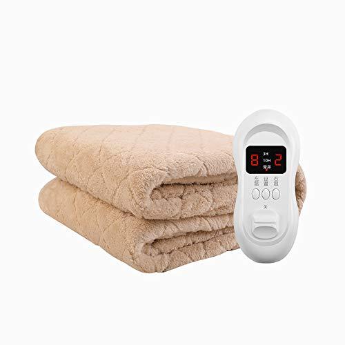 Preisvergleich Produktbild TX Heizdecke,  Wärmedecke mit Abschaltautomatik & Überhitzungsschutz & Timer,  Elektrische Heizdecke mit 8 Temperaturstufen,  Elektronische Temperaturregelung Waschbar, Khaki, 200 * 180cm