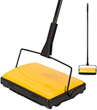 Yocada Carpet Sweeper Cleaner for Home Office Low Carpets Rugs Undercoat Carpets Pet Hair Dust Scraps Paper Small Rubbish Cleaning with a Brush Yellow