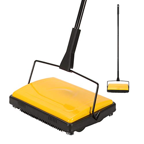 Find Discount Yocada Carpet Sweeper Cleaner for Home Office Low Carpets Rugs Undercoat Carpets Pet H...