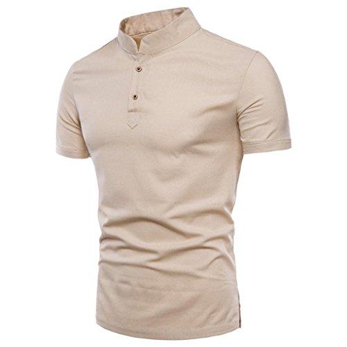 LuckyGirls Camisetas Hombre Verano Basicas Color Puro Lino Remera Moda Manga Cortos...