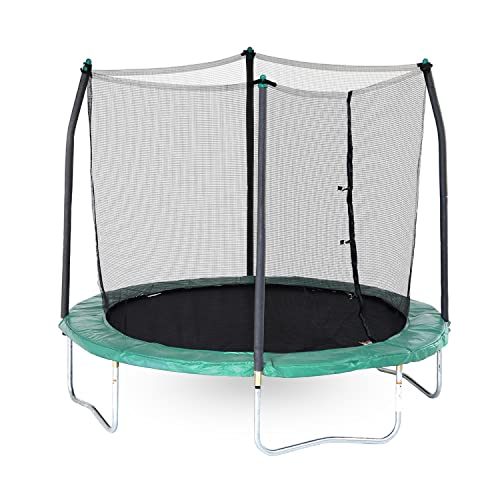 Skywalker 8-Feet Round Trampoline with Safety Enclosure Combo, Green