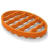 Silicone Roasting Rack for Instant Pot, Silicone Pressure Cooker Rack,Roast Racks for Crock Pots 6Qt 8Qt Oven, Steamer Racks For Cooking Meat(Oval, Orange)