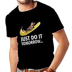 lepni.me Camisetas Hombre Sólo hazlo mañana! Chiste Divertido, Eslogan de Parodia, Regalo de Humor