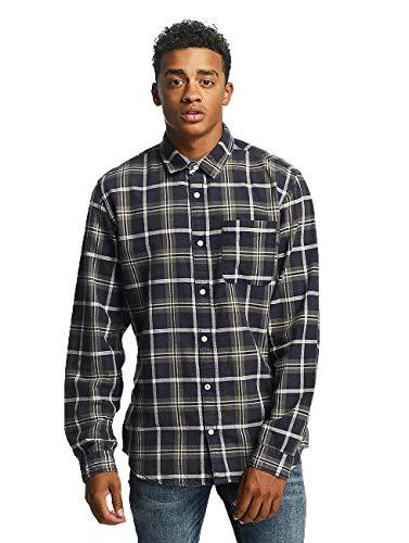 JACK & JONES Jorholden Shirt LS Camisa, (Thyme Fit:Slim), Large para Hombre