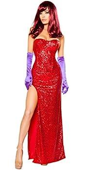 Women s Sexy Jessica Rabbit Halloween Costume - Red - Medium