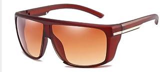 ZJMIYJサングラス男性ビッグフレームサングラス特大サングラスゴーグル男性運転眼鏡UV 400茶色