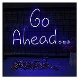 WMLWML Letrero de neón Personalizado, luz, Letras Decorativas a Prueba de Agua, Luces, adelante, acrílico, Colgante de Pared decoración Luces (Color : AU)