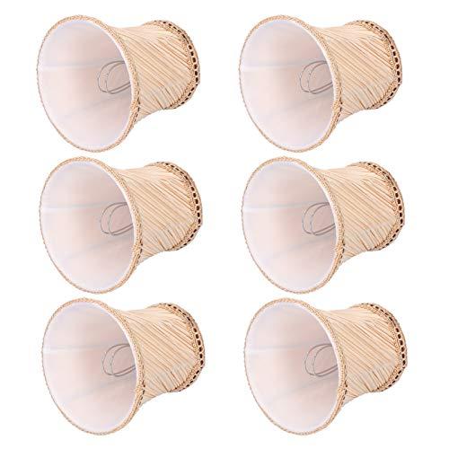 Tomanbery Pantalla de Tela Resistente al Desgaste Pantalla de lámpara 6 Piezas para Dormitorio