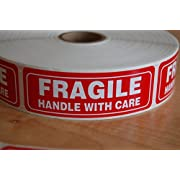 1000 FRAGILE(1x3) Sticker Handle With Care Fragile Label/Sticker