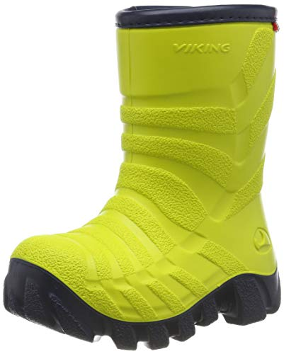 Viking Ultra 2.0, Unisex-Kinder Schneestiefel, Gelb (Lime/Navy 8805), 30 EU (11.5 UK)