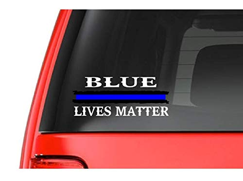 Blue Lives Matter (W26) Thin Blue Line Cop Police Sheriff Trooper Vinyl Decal Sticker Car Window #BlueLives