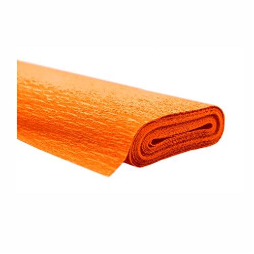 Creleo 791463 10 Rollen Krepppapier 50 x 250 cm orange -wasserfest-, wasserfest super starke Qualität 60g/m²