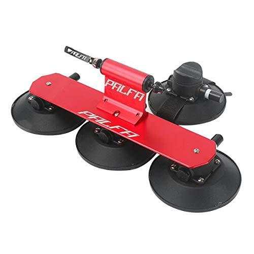 COEWSKE Baca Portabicicletas de Techo Aleación de Aluminio Soporte con succión para Bicicleta Liberación Rápida de Transporte (Rojo)