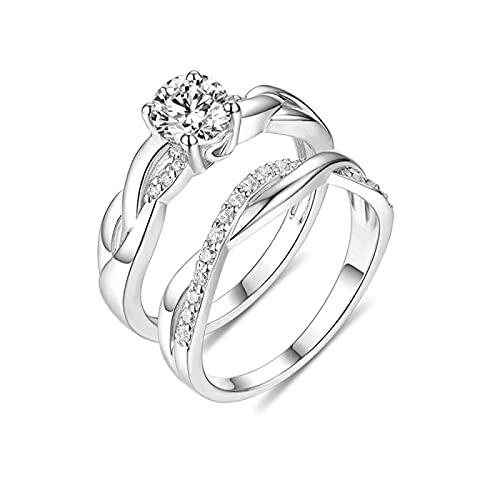 Anillo de plata de ley 925 MSYOU personalidad piedra natal amor infinito anillo silencioso anillo de boda personalizado anillo de compromiso anillo de pareja