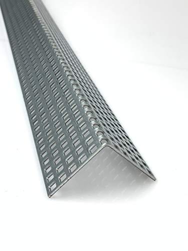 Lochblech Stahl Verzinkt Winkel QG 5-8 Winkelprofil 1,5mm Länge 1000mm, Individuell nach Maß (Schenkel: 50mm x 50mm)