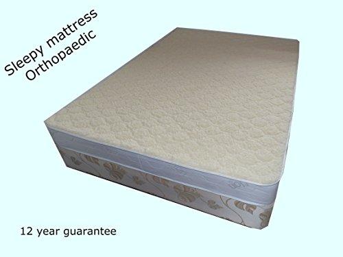 SleepyMattress Gold-Wool Ortho-Sleepy Lujo de colchones-100% Lana de Merino, Medium-Firm Comodidad, Dorado, Double 4ft6 x 6ft3-135cm x 190cm