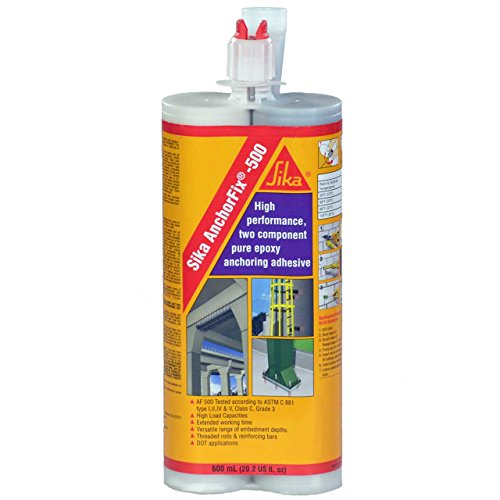 Sika AnchorFix 500 - Two Component Epoxy 20 oz, High Performance, Concrete Anchoring System - Concrete Anchor 2 Part Epoxy, Pack of 2