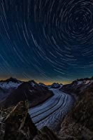 Road Path Mountain Starry Sky Photography Night Hills Landscape Nature Poster Canvas Print Poster Wall Art Decoration For Bedroom Living Room(Unframed)Home Decor