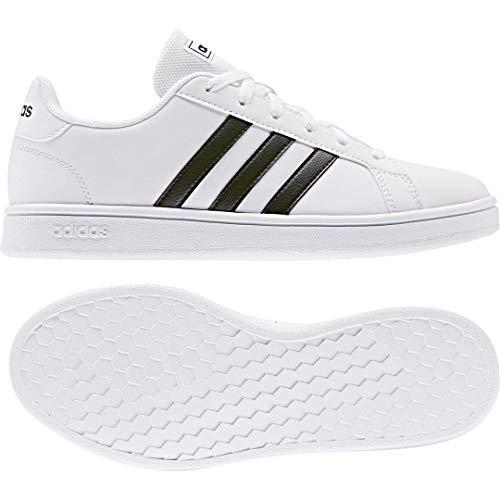 adidas Women's Grand Court Base Fashion Sneakers Cloud White/Core Black/Core Black 8