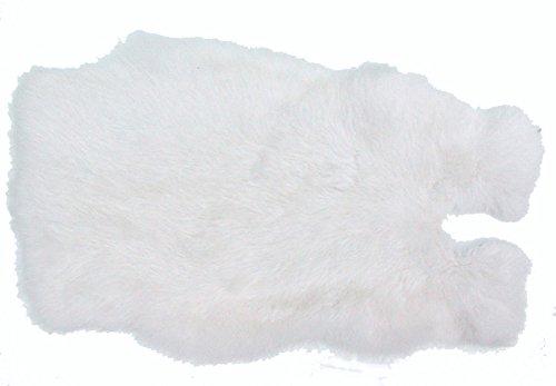 Ensuite Kaninchenfelle weiß naturfarben, ca. 30x30 cm, Felle vom Kaninchen mit seidigem Haar