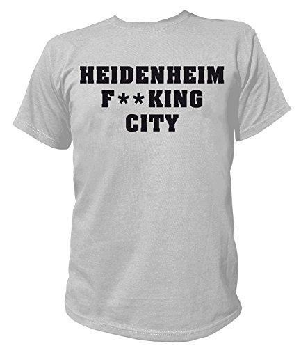 Artdiktat Herren T-Shirt - Heidenheim Fucking City Größe XXXL, grau