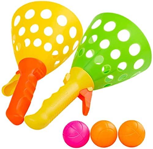 YYHH Catch Ball Game, Double Toss and Catch Balls Get Set, Kids Lanza Catch Ball Game Set, Juegos de Juegos Deportivos al Aire Libre Ideal para Fiestas de cumpleaños Infantiles