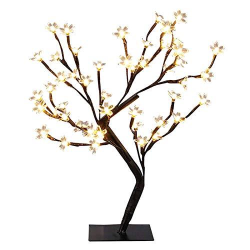 48 DEL Lumières Blanches Cherry Blossom Bonsaï Plug Noël Lampe UK