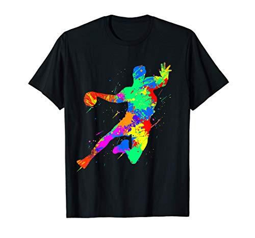 balonmano acuarela salpicadura pelota deporte arte regalo Camiseta