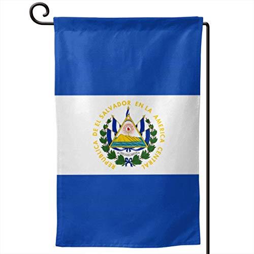 ONGH Bandera de El Salvador Jardín de 12.5 x 18 Pulgadas Bandera Impermeable Patio de Doble Cara Decorativo al Aire Libre