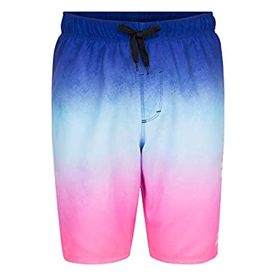 Hurley Boys' Toddler Pull On Board Shorts, Blue/Pink Ombre, 4T