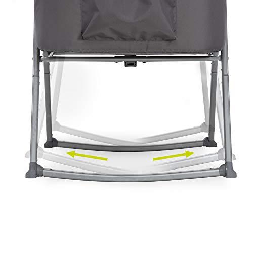 Hauck Dreamer Babywiege/Stubenwagen/Beistell-/Reisebett, inkl. Matratze und Spielzeugtasche, mit Schaukelfunktion, faltbar, klappbar und tragbar, Grau - 13
