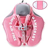 HECCEI Upgrade Mambobaby Float for Infant Waist Swimming Ring Swim Trainer Life Vest Non-Inflatable Floats Toys with Adjustable Safety Strap (Flamingo)