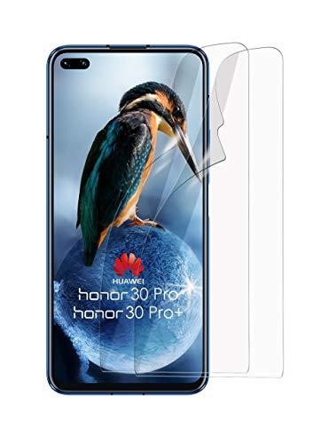 MoEx Protector de Pantalla HD Transparente Compatible con Honor 30 Pro / 30 Pro+ | Antirrayaduras, 2X