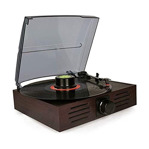 Caja música Tocadiscos Tocadiscos Inalámbrico LP Fonógrafo portátil 3 velocidades Tocadiscos Tocadiscos para recibir audio Reproductor multifunción vintage Radio para entretenimiento Decoración del h