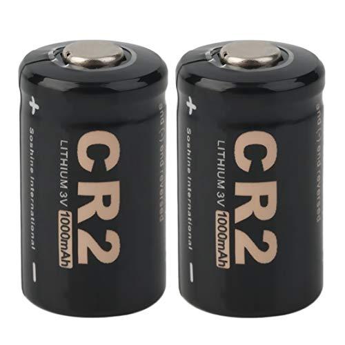 2 stücke CR2 3,0 V 1000 mAh Akku Maximale Kapazität Zuverlässigkeit Eingebaute Sicherheitsschaltung mit Fall für Soshine Kaemma