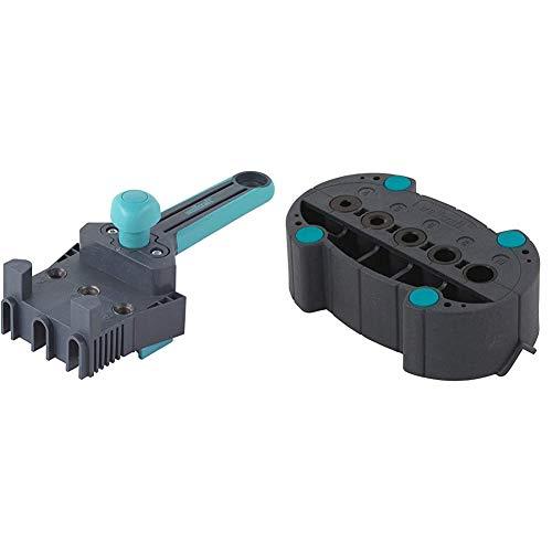 Wolfcraft 4640000 - Maestro guía de ensamblaje de plástico - Ø 6, 8, 10 mm + 4685000 4685000-1'accumobil guía para taladrar móvil