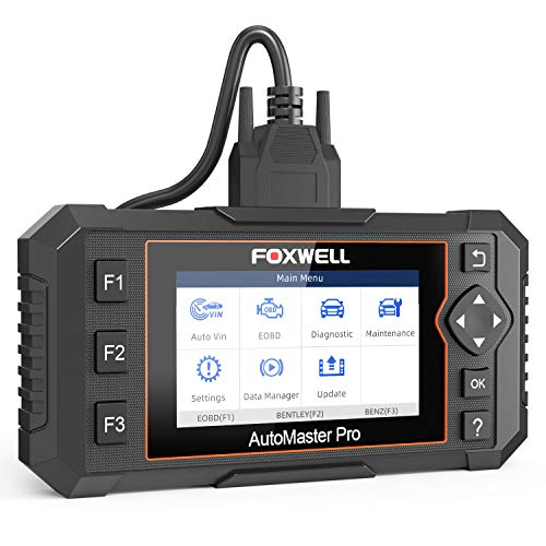 FOXWELL NT624 Elite All Systems Diagnostic Scan Tool OBD2 Scanner Automotive Code Reader with Oil Reset and EPB Service for Check Engine Transmission ABS SRS EPS Body